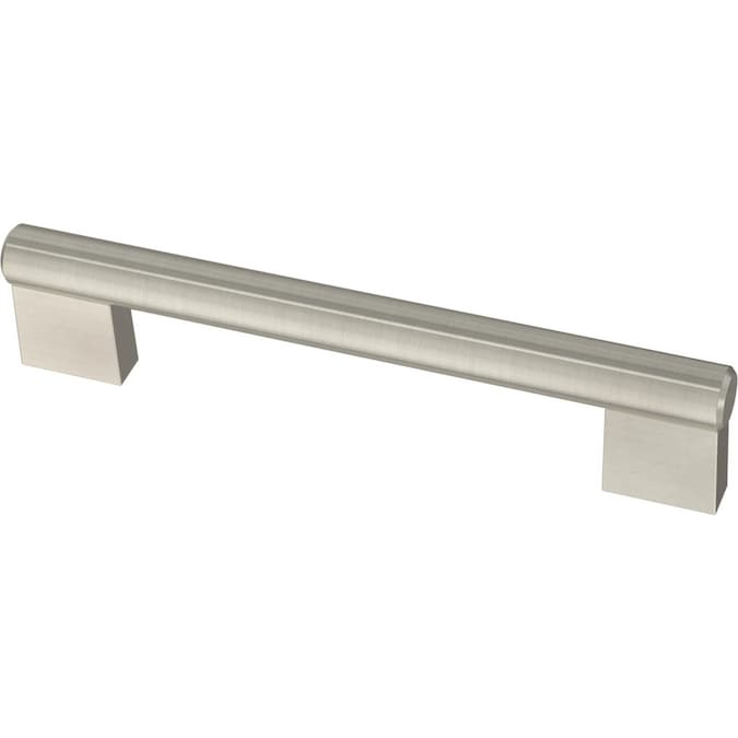 Brainerd Chunky Modern 5 1 16 In Center To Center Stainless Steel Cylindrical Bail Drop Drawer Pulls In The Drawer Pulls Department At Lowes Com