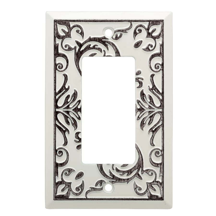 Brainerd Fairhope 1-Gang White Wash Single Decorator Wall Plate