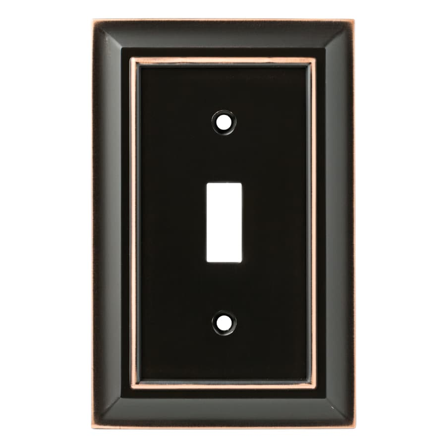 Brainerd Architectural 1-Gang Delta Oil Rubbed Bronze Single Toggle Wall Plate