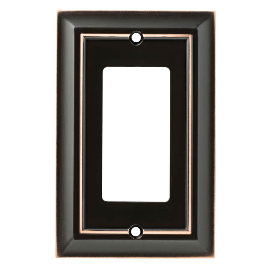 Brainerd Architectural 1-Gang Delta Oil Rubbed Bronze Single Decorator Wall Plate