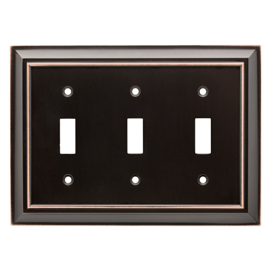 Brainerd Architectural 3-Gang Delta Oil Rubbed Bronze Triple Toggle Wall Plate