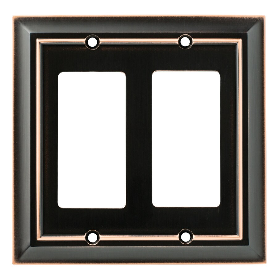 Brainerd Architectural 2-Gang Delta Oil Rubbed Bronze Double Decorator Wall Plate