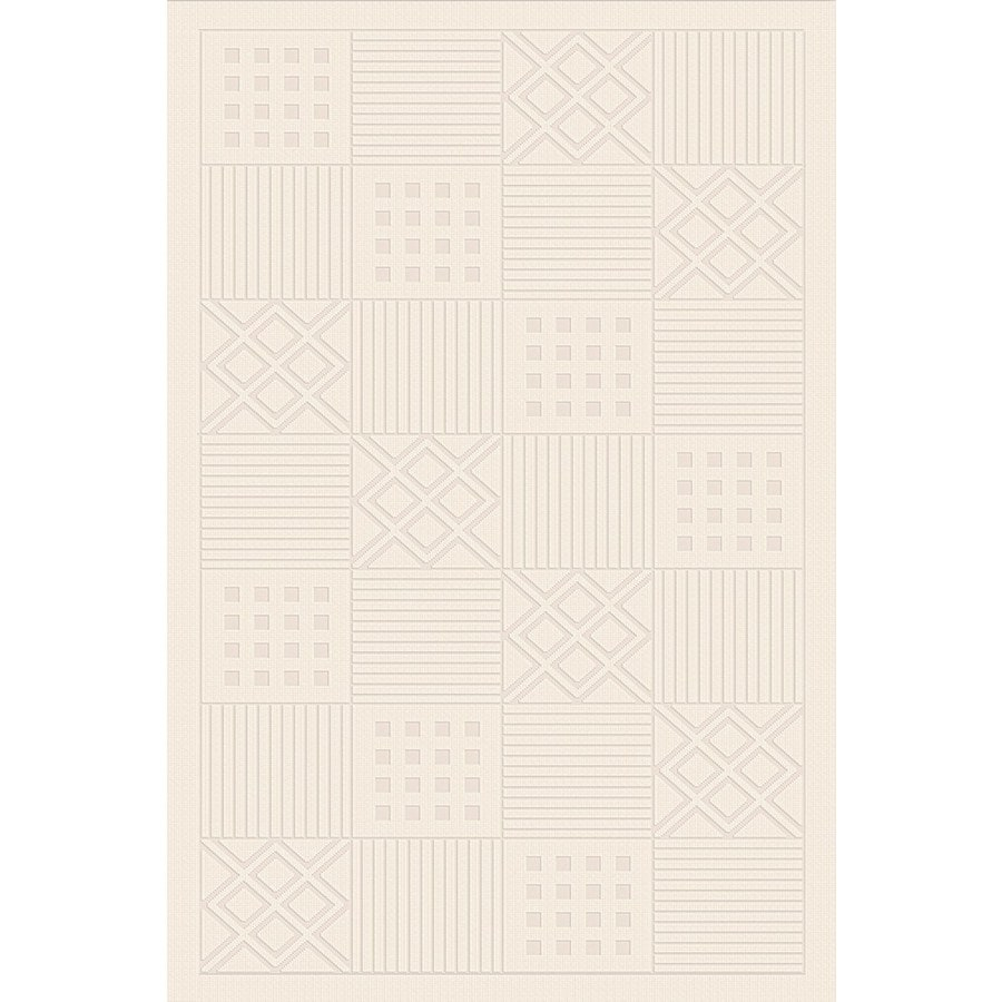 Regence Home Cheshire Rectangular Cream Geometric Woven Wool Accent Rug (Common: 3-ft x 5-ft; Actual: 36-in x 60-in)