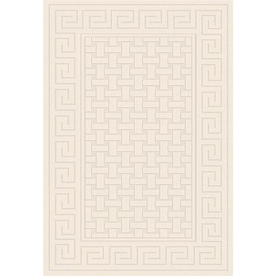 Regence Home Cheshire Rectangular Cream Geometric Woven Wool Accent Rug (Common: 2-ft x 4-ft; Actual: 26-in x 43-in)