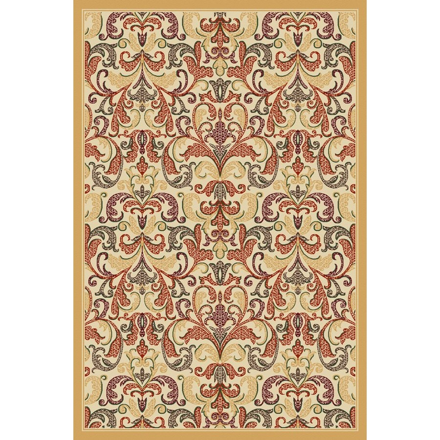 Regence Home Malmesbury Rectangular Cream Floral Woven Area Rug (Common: 5-ft x 8-ft; Actual: 5-ft x 7-ft)