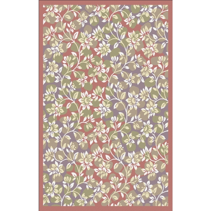 Regence Home Malmesbury Rectangular Red Floral Woven Accent Rug (Common: 3-ft x 5-ft; Actual: 39-in x 55-in)