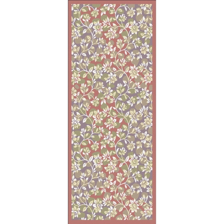 Regence Home Malmesbury Red Woven Runner (Common: 2-ft x 5-ft; Actual: 2.166-ft x 5-ft)
