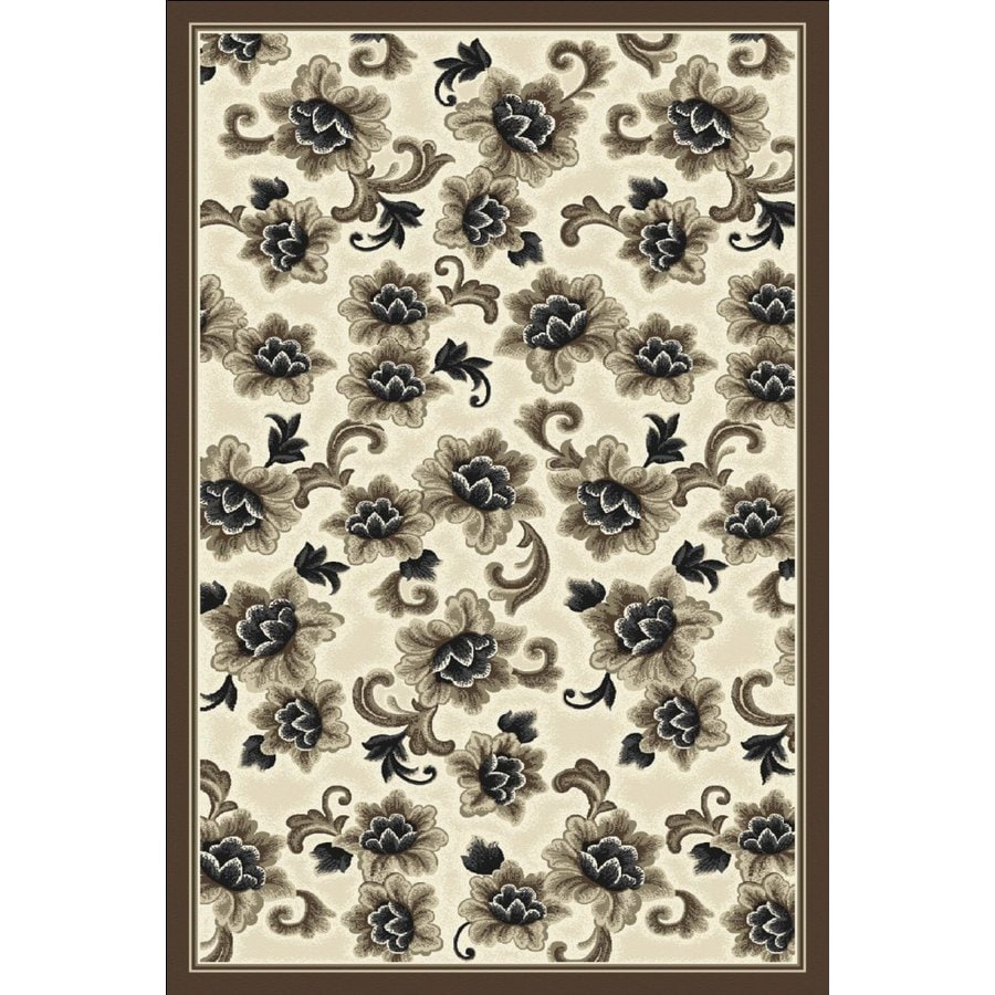 Regence Home Winchester Rectangular Multicolor Floral Woven Area Rug (Common: 5-ft x 8-ft; Actual: 5-ft x 7.5-ft)