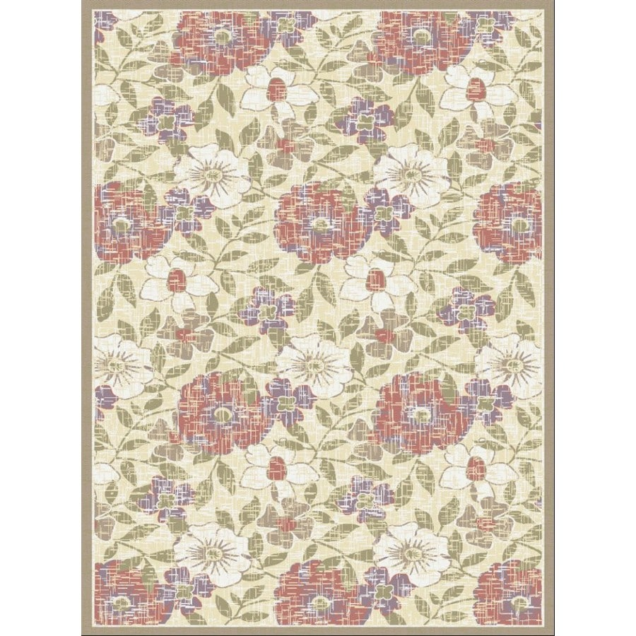 Regence Home Winchester Rectangular Cream Floral Woven Area Rug (Common: 5-ft x 8-ft; Actual: 5-ft x 7.5-ft)