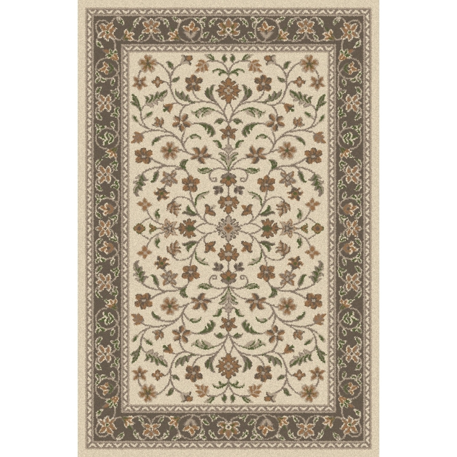 Regence Home Wellington Rectangular Cream Floral Indoor/Outdoor Tufted Wool Area Rug (Common: 5-ft x 8-ft; Actual: 5-ft x 7-ft)