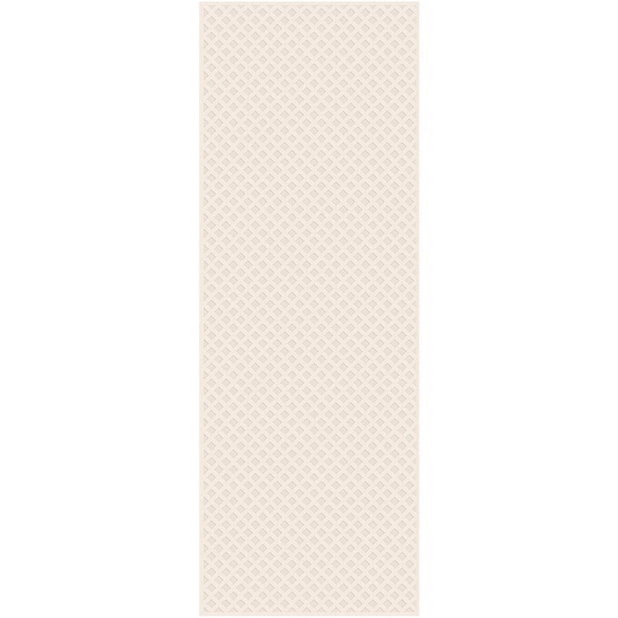 Regence Home Cheshire Cream Indoor/Outdoor Woven Wool Runner (Common: 2-ft x 8-ft; Actual: 2.166-ft x 8-ft)
