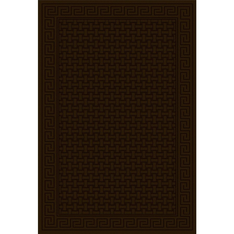 Regence Home Cheshire Chocolate Rectangular Indoor Machine-Made Area Rug (Common: 4 x 6; Actual: 4-ft W x 6-ft L)