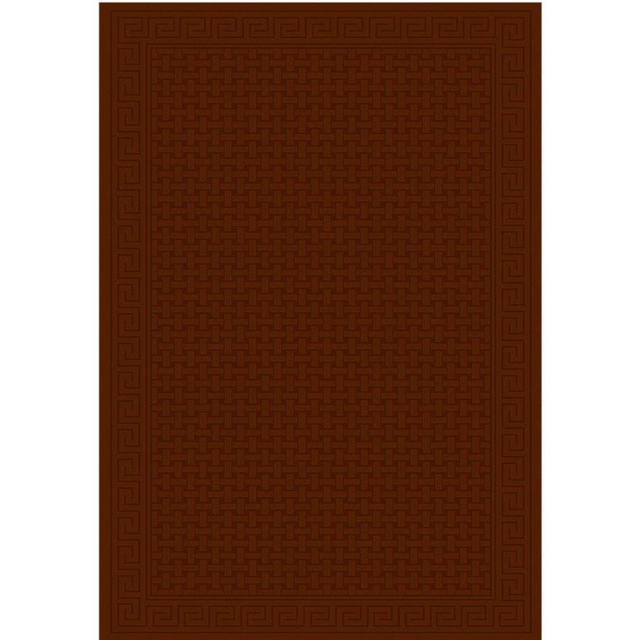 Regence Home Cheshire Rectangular Red Geometric Indoor/Outdoor Woven Wool Area Rug (Common: 8-ft x 10-ft; Actual: 8-ft x 10-ft)