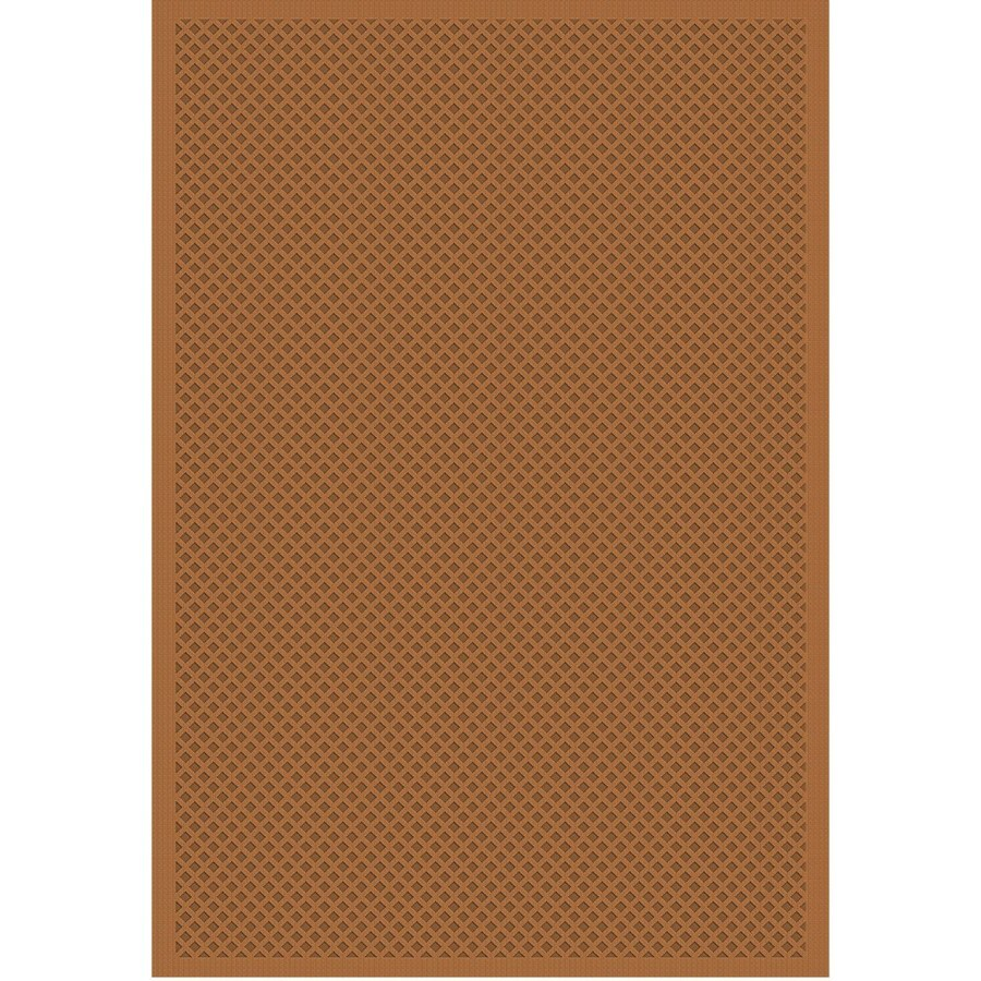 Regence Home Cheshire Rectangular Brown Geometric Indoor/Outdoor Woven Wool Area Rug (Common: 8-ft x 10-ft; Actual: 8-ft x 10-ft)