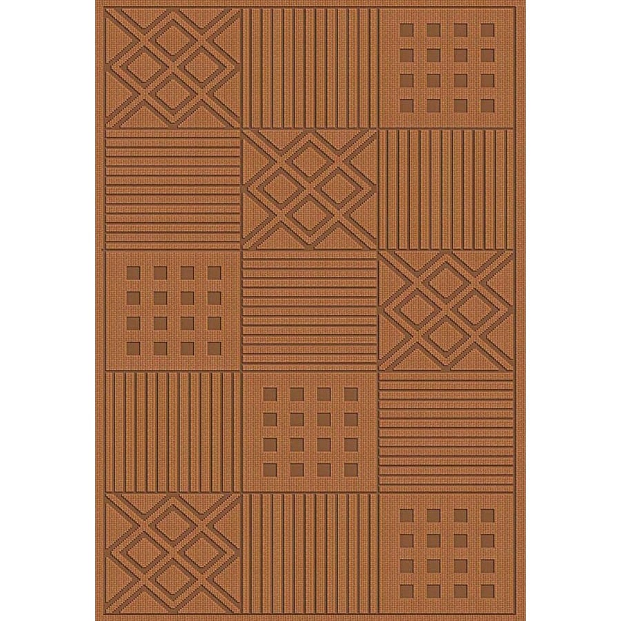 Regence Home Cheshire Rectangular Brown Geometric Woven Wool Accent Rug (Common: 2-ft x 4-ft; Actual: 26-in x 43-in)