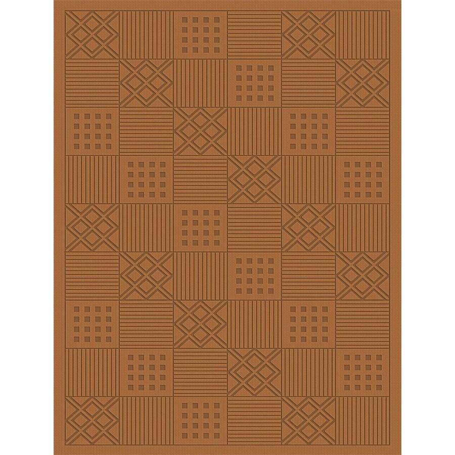 Regence Home Cheshire Rectangular Brown Geometric Indoor/Outdoor Woven Wool Area Rug (Common: 4-ft x 6-ft; Actual: 4-ft x 6-ft)