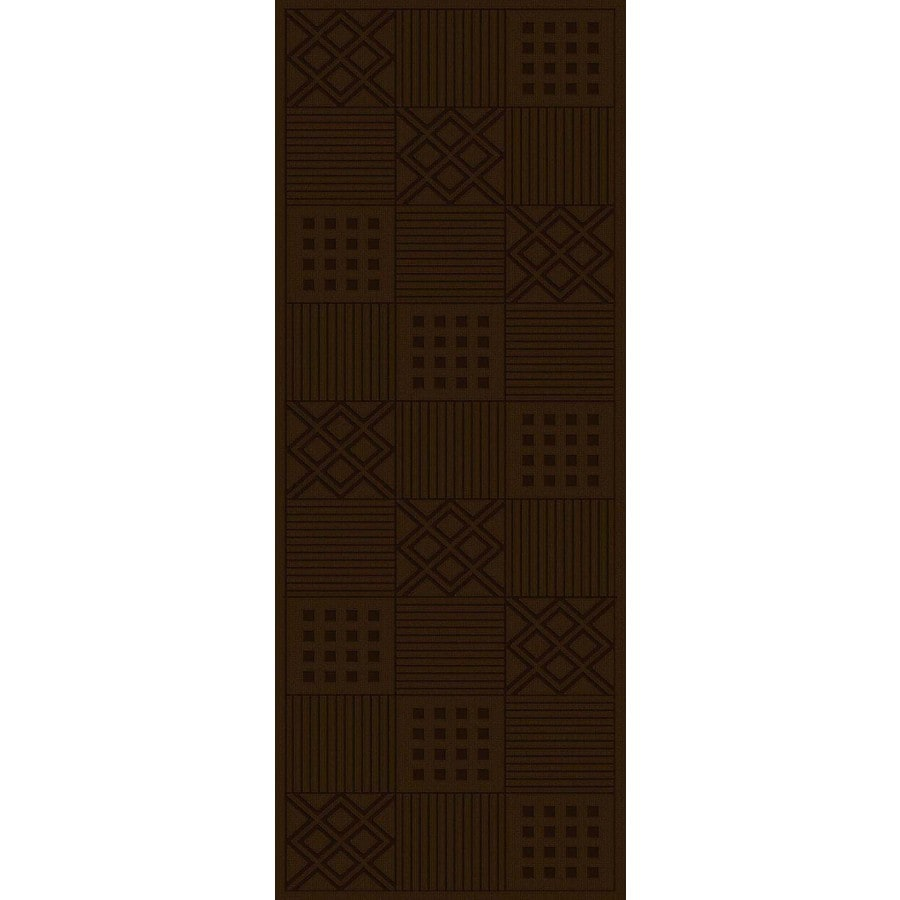 Regence Home Cheshire Chocolate Rectangular Indoor Machine-Made Runner (Common: 2 x 10; Actual: 26-in W x 120-in L)