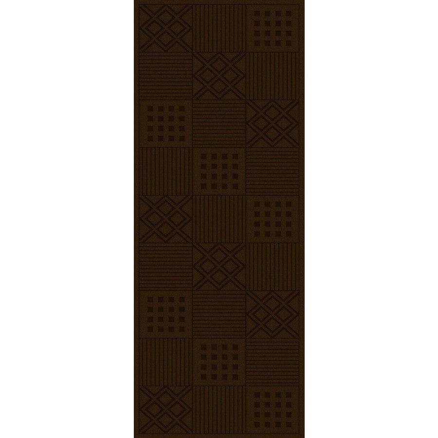Regence Home Cheshire Chocolate Rectangular Indoor Machine-Made Runner (Common: 2 x 10; Actual: 2.16-ft W x 10-ft L)