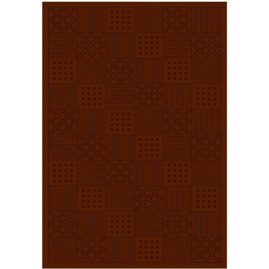 Regence Home Cheshire Rectangular Red Geometric Indoor/Outdoor Woven Wool Area Rug (Common: 5-ft x 8-ft; Actual: 5-ft x 7.5-ft)
