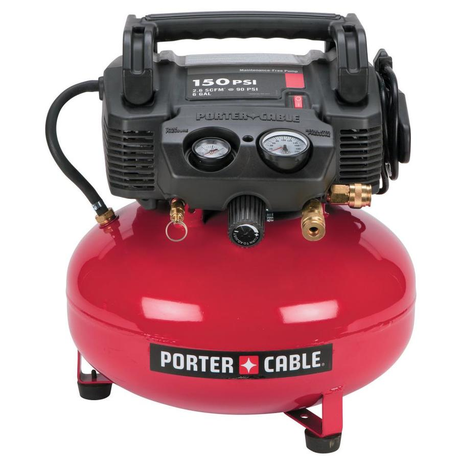 Shop PORTER-CABLE 6-Gallon 150-PSI Electric Pancake Air Compressor at Lowes.com