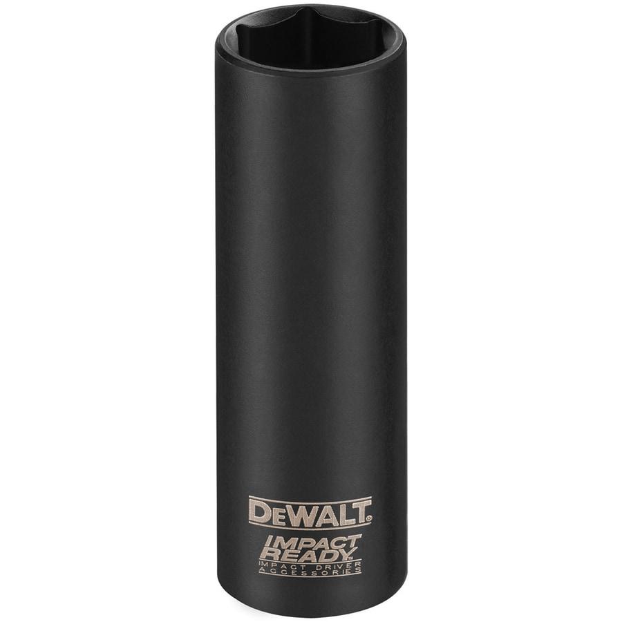 DEWALT 3/8-in Drive 1/2-in Deep Standard (SAE) Impact Socket