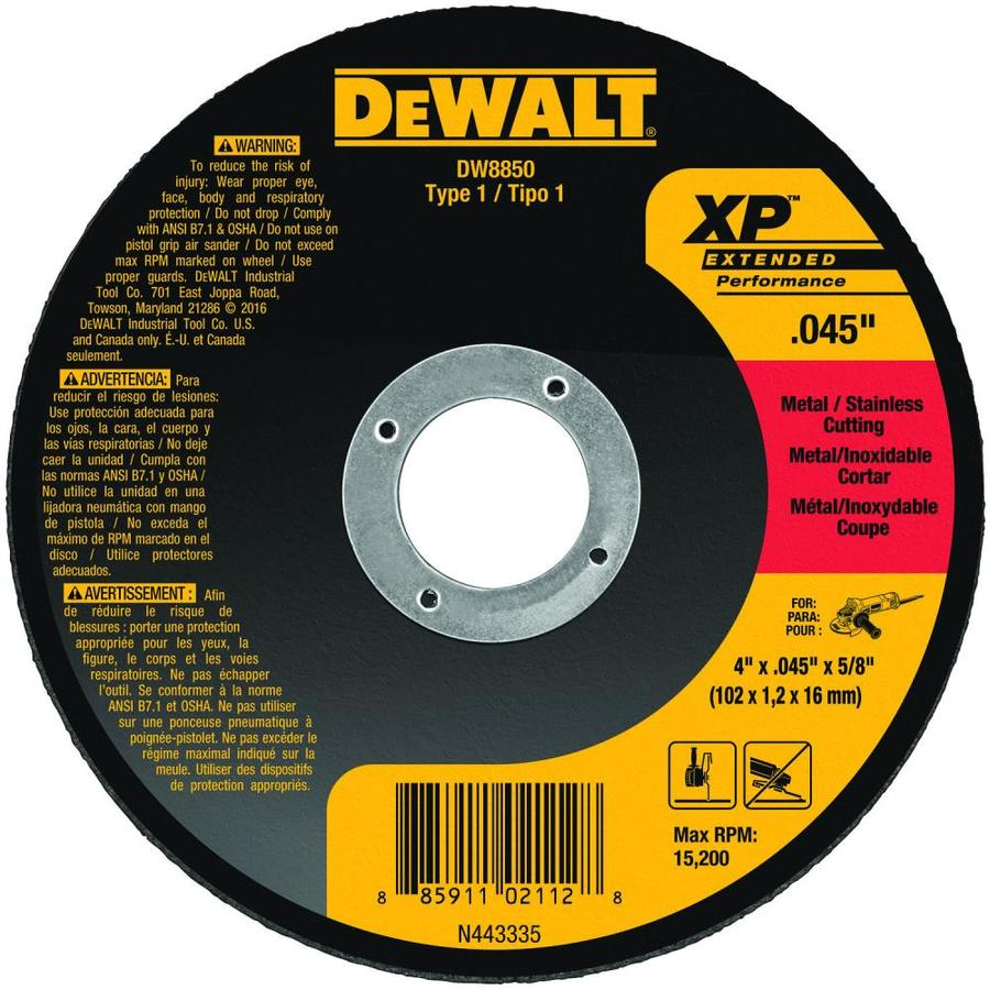 DEWALT 4-in 0-Tooth Dry Turbo High-Performance Aluminum Oxide Circular Saw Blade