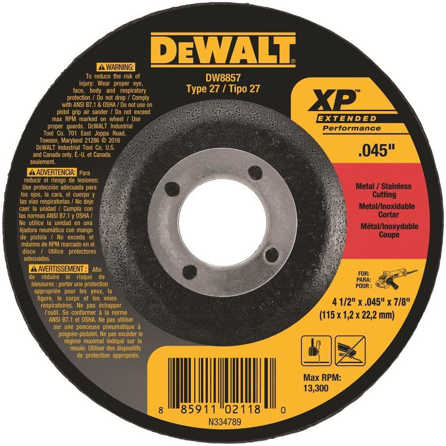 DEWALT Aluminum Oxide 4-1/2-in Cutting Wheel