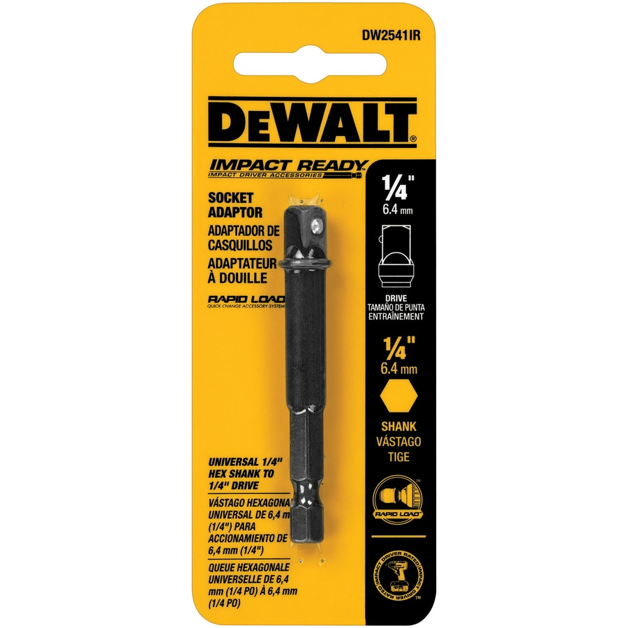 DEWALT 1/4-in to-1/4-in Hex Shank Socket Adapter