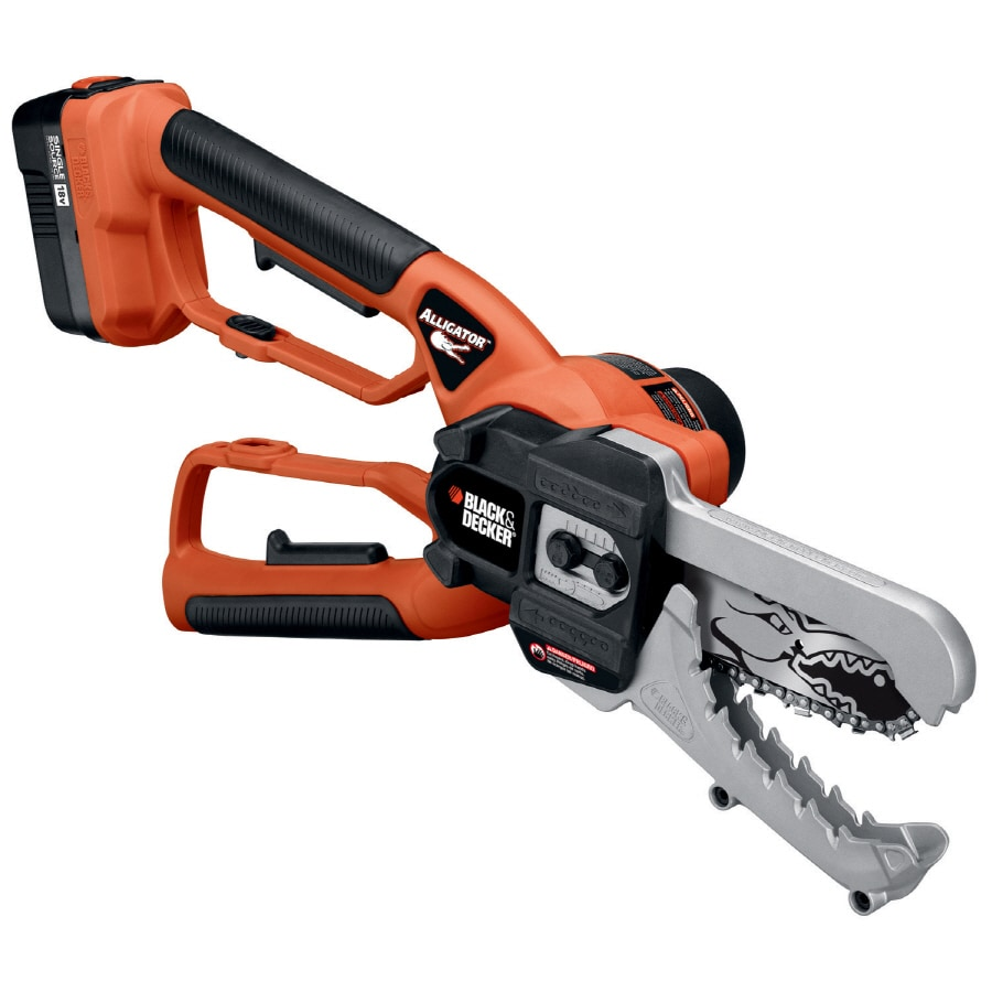 BLACK & DECKER 18-Volt Nickel Cadmium (NiCd) 6-in Cordless Electric Chainsaw (Battery Included)