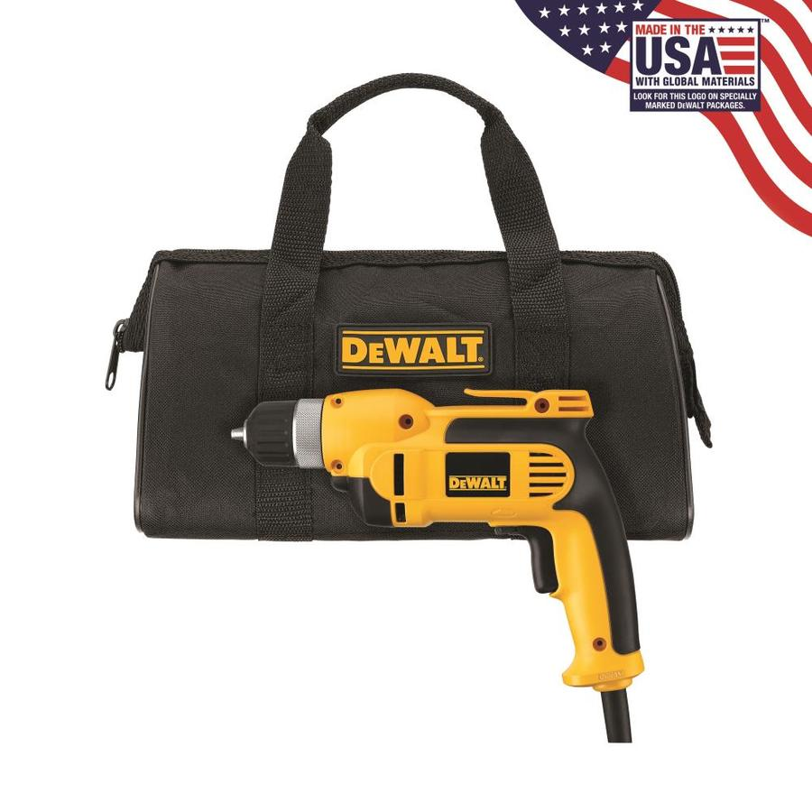 DEWALT 8 Amp 3/8-in Keyless Corded Drills with Case