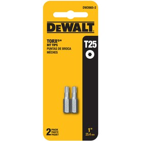 DEWALT 2-Piece 1-in T25 Torx Alloy Steel Hex Shank Screwdriver Bit