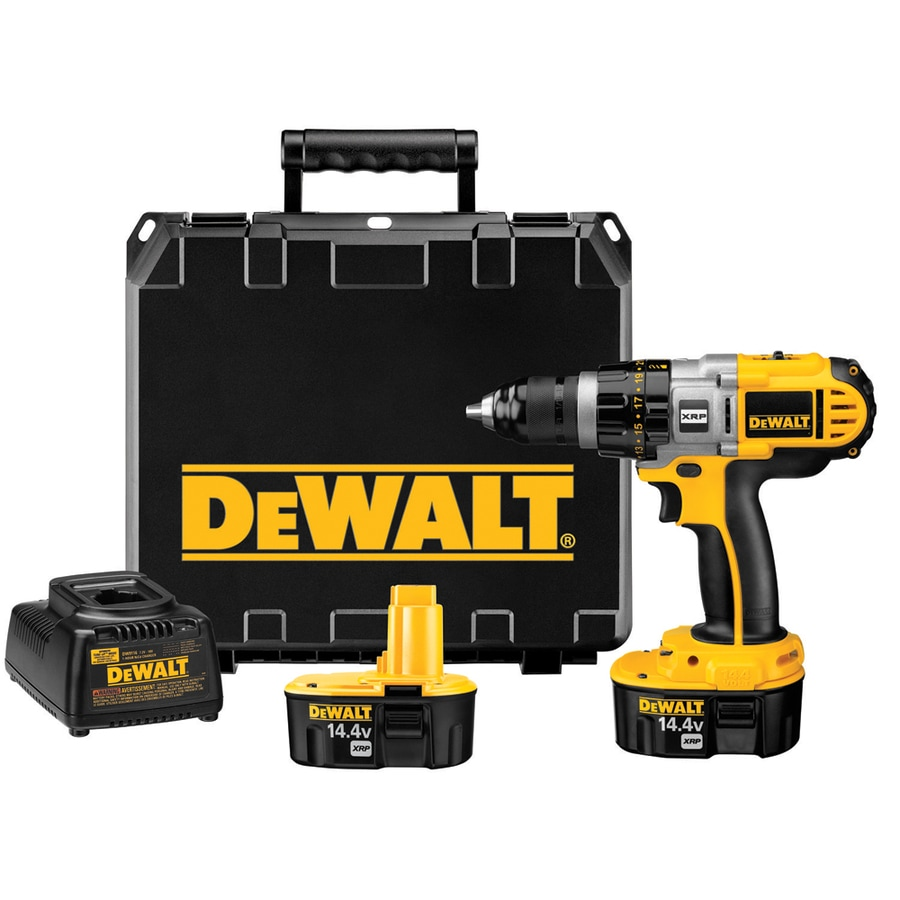 DEWALT 14.4-Volt-Volt 1/2-in Cordless Drill Battery Included Hard