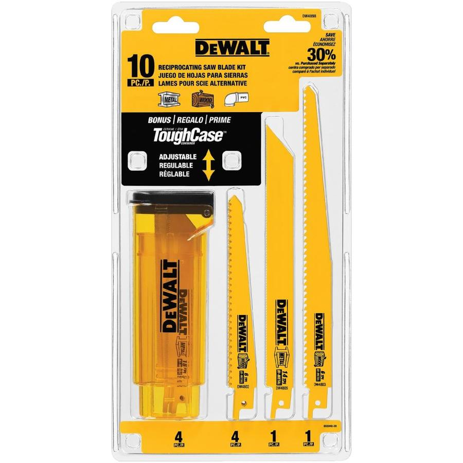 DEWALT 10-Pack Bi-Metal Reciprocating Saw Blade Set