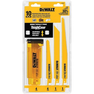 DEWALT 10-Pack Set Wood/Nail Embedded Cutting Reciprocating