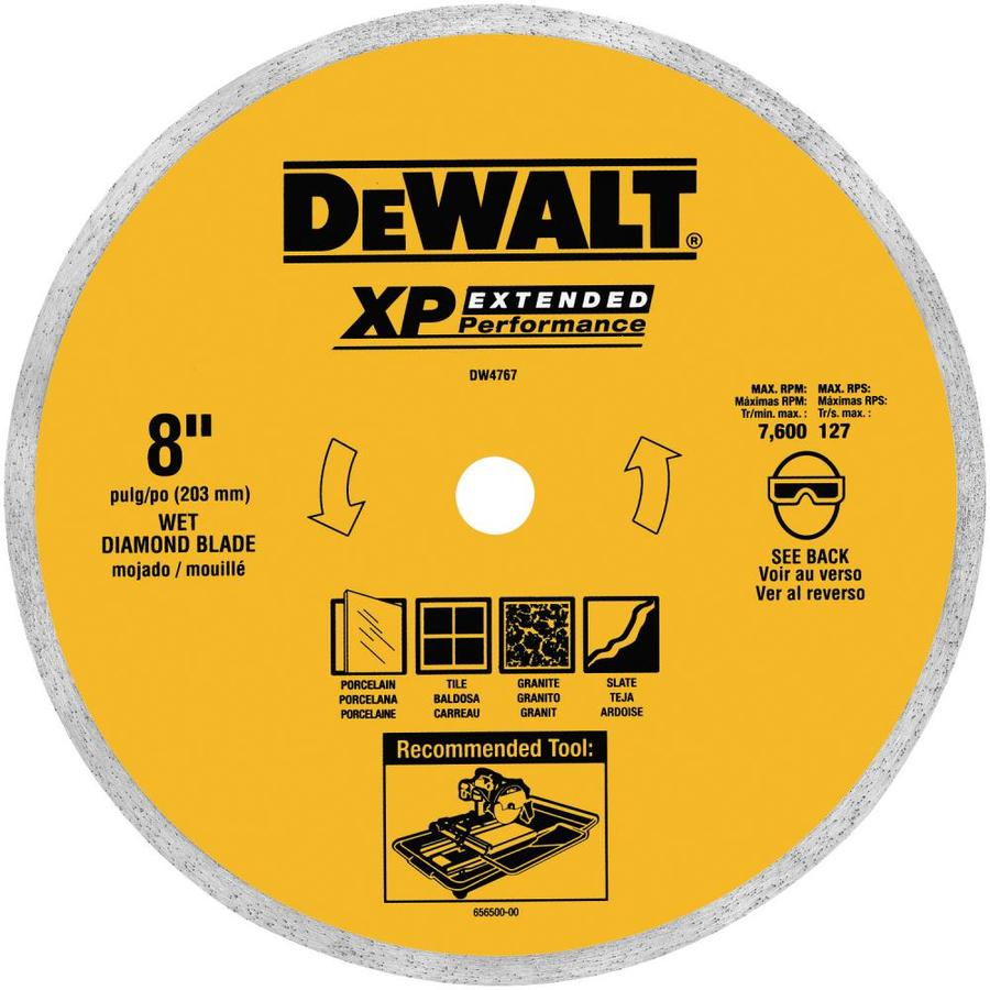 DEWALT 8-in Wet Continuous Diamond Circular Saw Blade