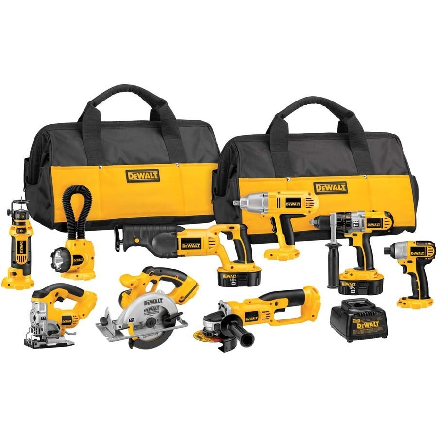 DEWALT 9-Tool 18-Volt Nickel Cadmium (Nicd) Motor Cordless Combo Kit with Soft Case
