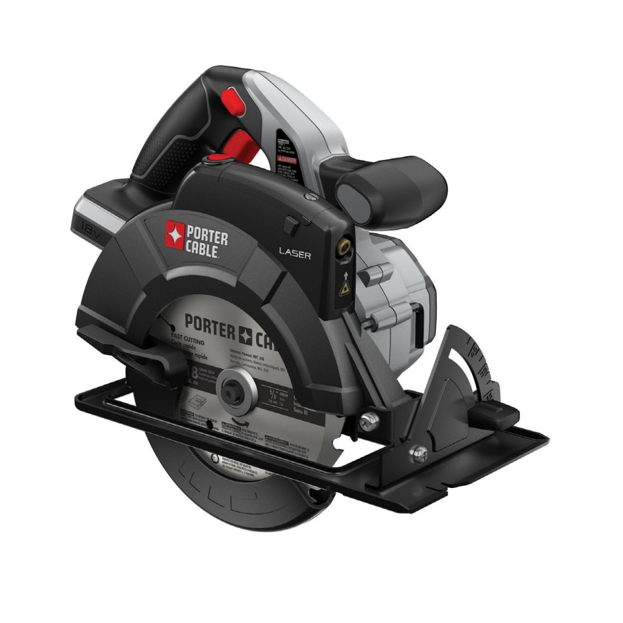 Shop porter cable 18 volt 6 12 in cordless circular saw with porter cable 18 volt 6 12 in cordless circular saw greentooth Choice Image