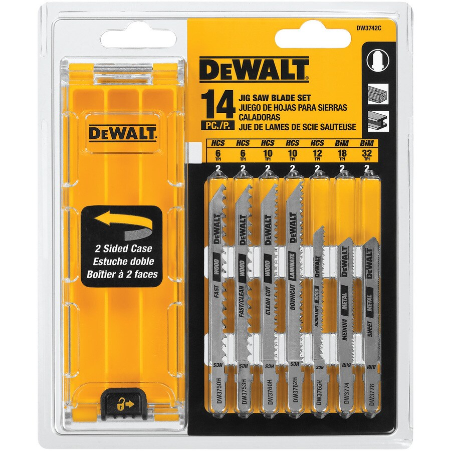 Shop jigsaw blades at lowes dewalt 14 pack t shank jigsaw blade set greentooth Images