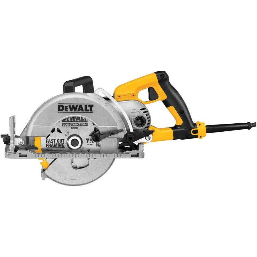 Shop circular saws at lowes dewalt 15 amp worm drive corded circular saw with aluminum shoe greentooth Choice Image