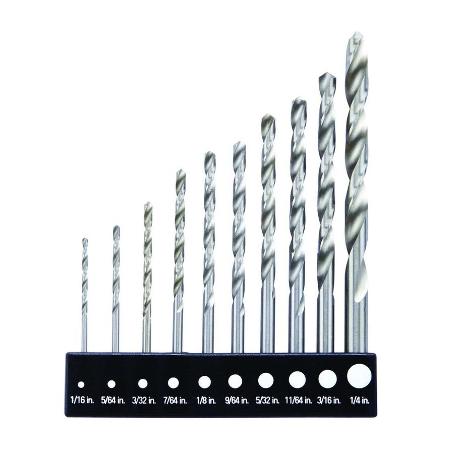 BLACK & DECKER 10-Pack High-Speed Steel Twist Drill Bit Set