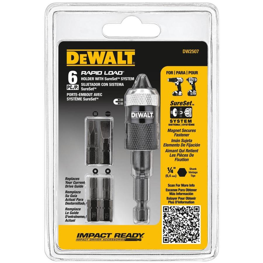 Shop Dewalt 6 Count Magnetic Screwdriving Bit Holder At