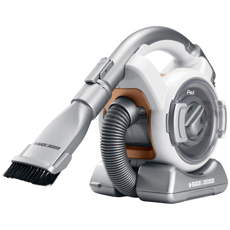 black decker flex mini canister 12 volt cordless handheld vacuum at. Black Bedroom Furniture Sets. Home Design Ideas