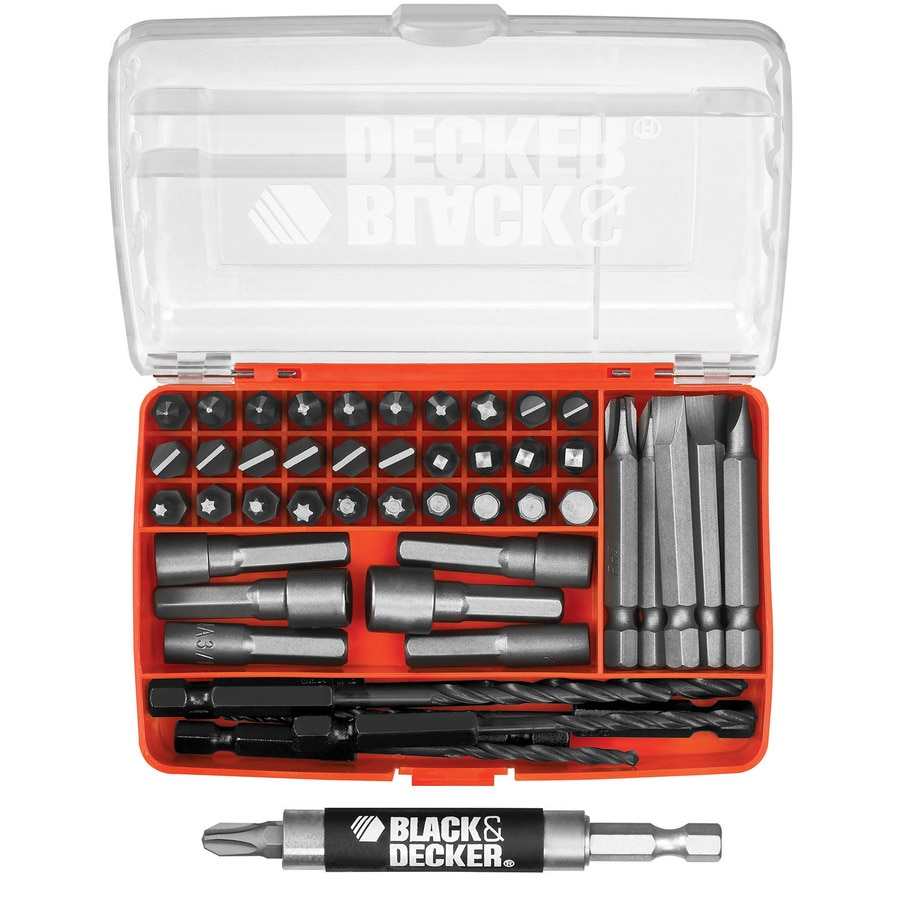 Black Decker 52 Piece Shank Screwdriver Bit Set At Lowes Com