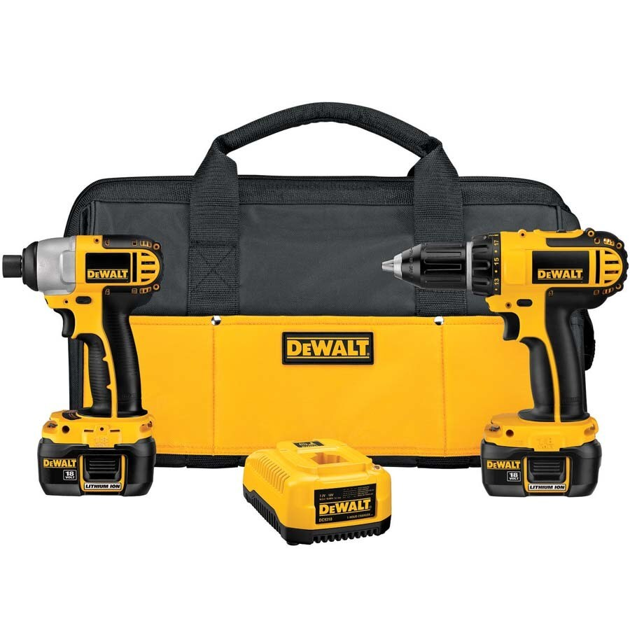DEWALT 18-Volt Lithium Ion (Li-Ion) Motor Cordless Combo Kit with Soft Case