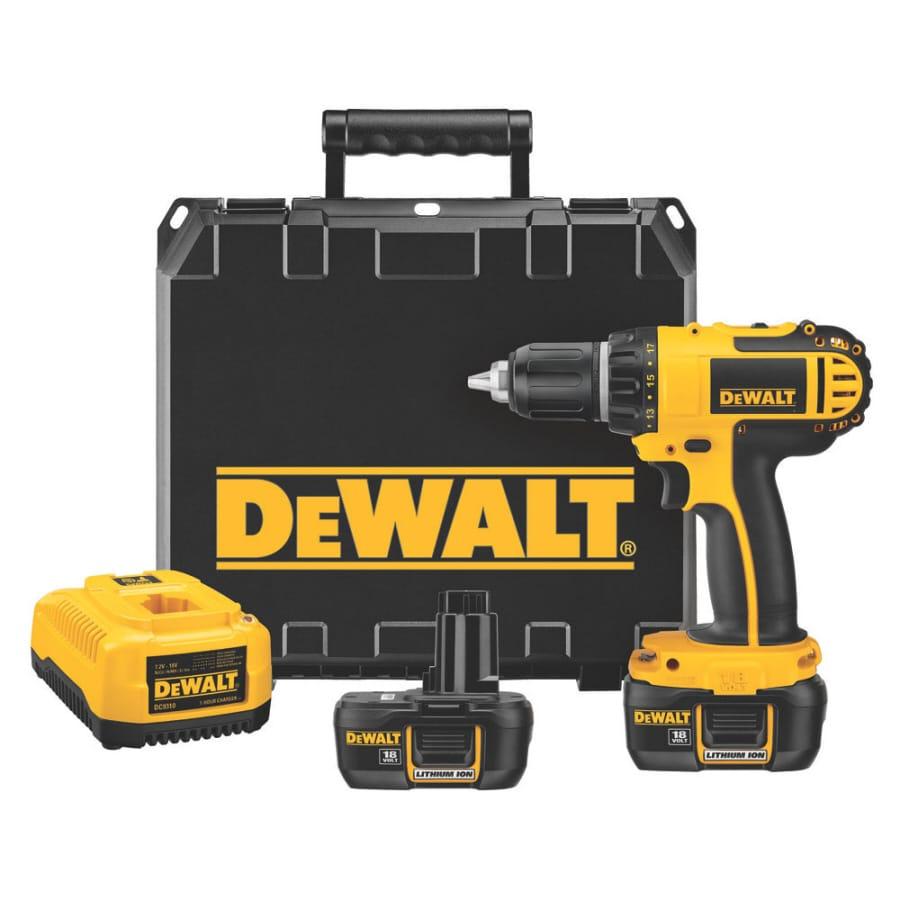DEWALT 18-Volt-Volt 1/2-in Cordless Drill Battery Included Hard