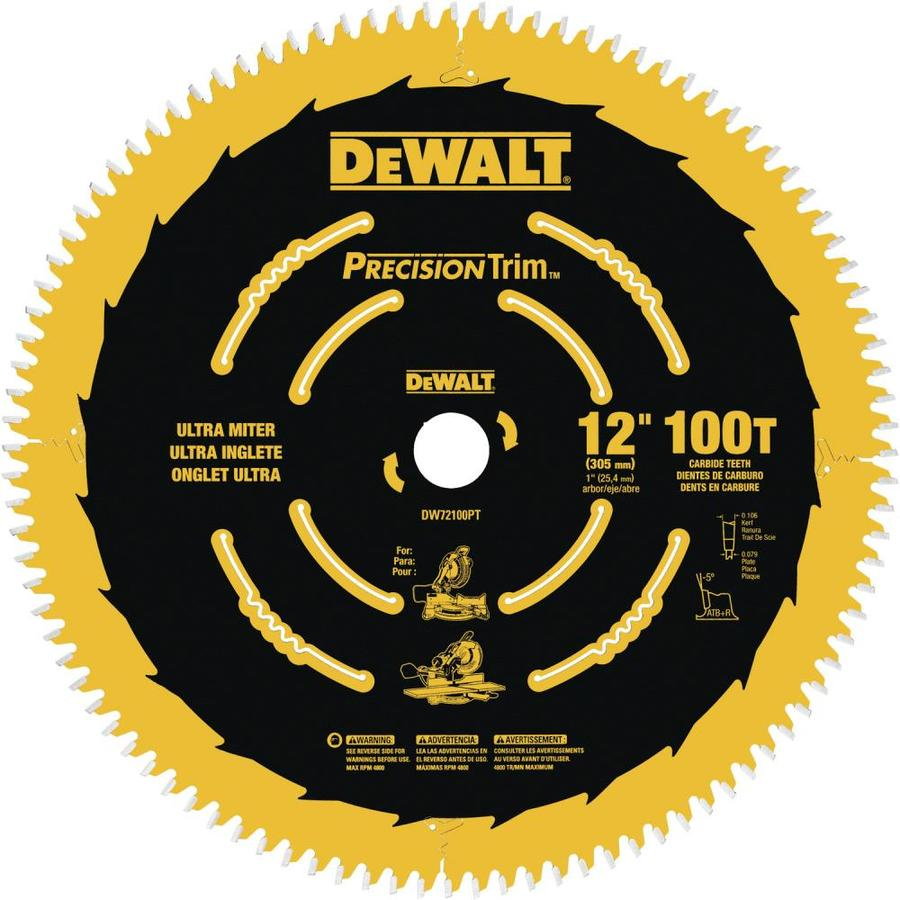DEWALT Precision Trim 12-in 100-Tooth Standard Carbide Circular Saw Blade