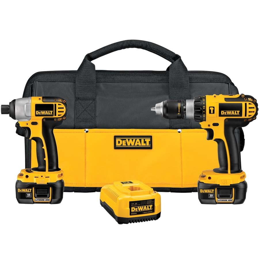 DEWALT 2-Tool 18-Volt Lithium Ion Cordless Combo Kit with Soft Case