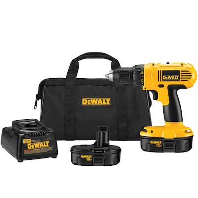 DEWALT 18-Volt 1/2-in Variable Speed Cordless Drill (2 -Batteries Included and Charger Included)