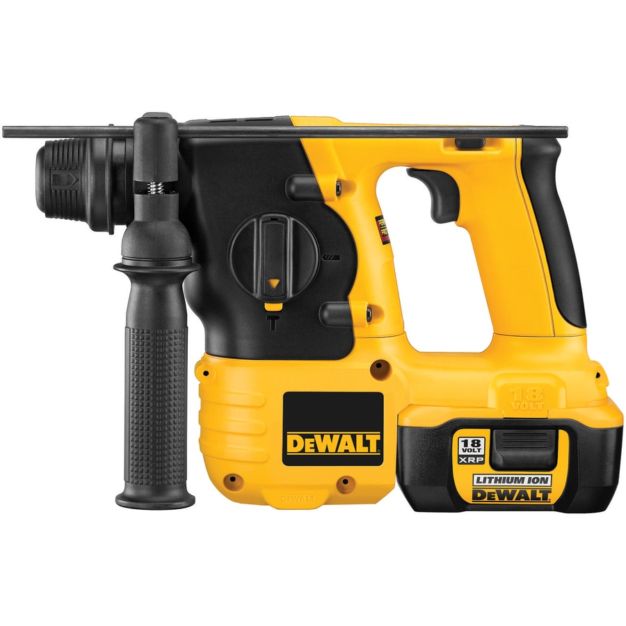 DEWALT 18 Lithium Ion (Li-ion) 7/8-in Spline Variable Speed Cordless Rotary Hammer with Hard Case