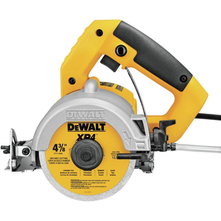 DEWALT 4.375-in 0 Wet/Dry Handheld Tile Saw